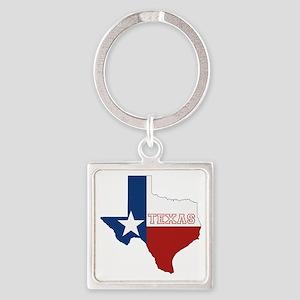Texas Flag Square Keychain