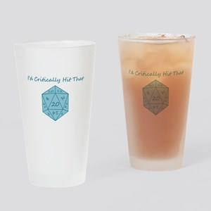 I'd Critically Hit That - Blue Drinking Glass