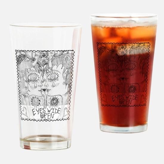 EyesWideOpen Drinking Glass