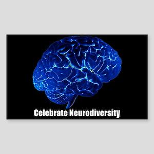 Celebrate Neurodiversity Blue Sticker (Rectangle)
