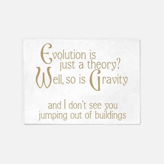 Evolutionary Theory 5'x7'Area Rug