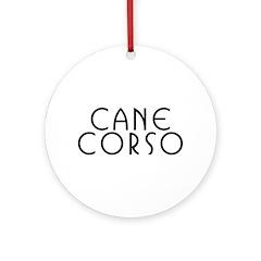 Cane Corso Holiday Ornament (Round)
