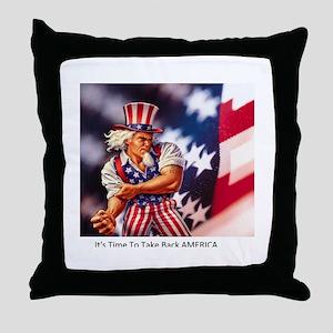 Time to take back America Throw Pillow