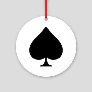 Spade Ornament (Round)