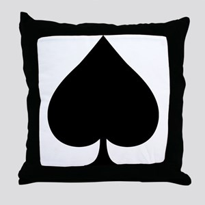 Spade Throw Pillow