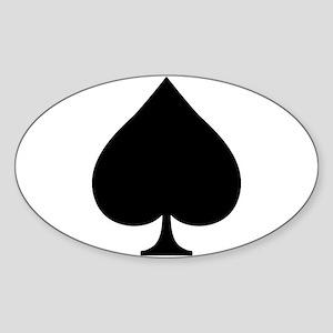 Spade Sticker (Oval)