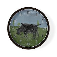 Grim Cow Wall Clock