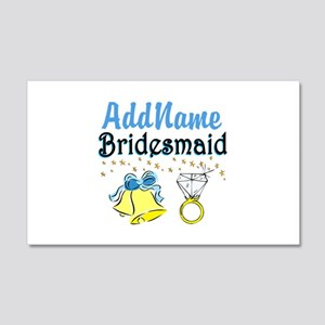 BRIDESMAID 20x12 Wall Decal