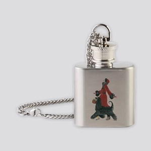 Ruby Flask Necklace