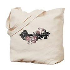 Gothic Key And Roses Tote Bag