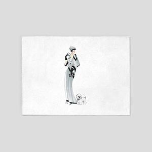 Margaret Bichon Frise 5'x7'Area Rug