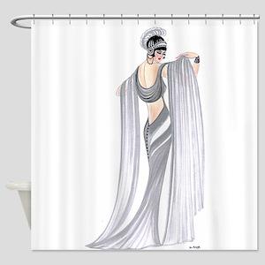 Selene.png Shower Curtain