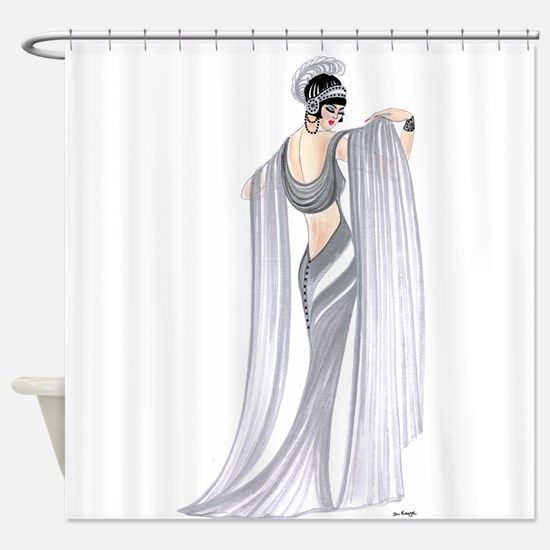 Selene.png Shower Curtain