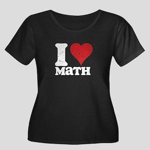 ILOVEMathWhtLettersTEE Plus Size T-Shirt