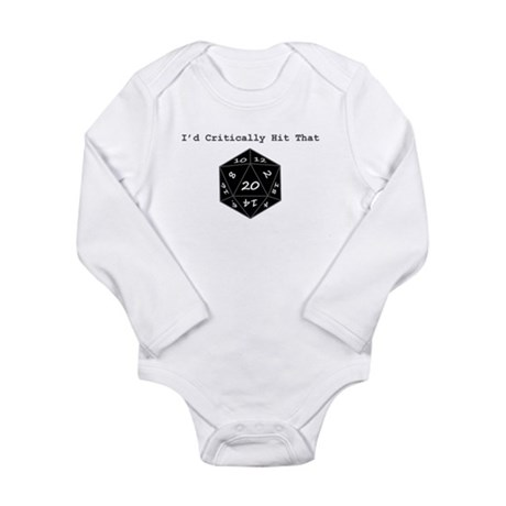 I'd Critically Hit That - Black Long Sleeve Infant