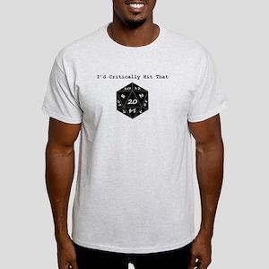 I'd Critically Hit That - Black Light T-Shirt