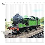 Steam train, Railway gifts Shower Curtain