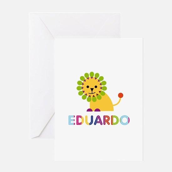 Eduardo Loves Lions Greeting Card
