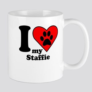 I Heart My Staffie Mug