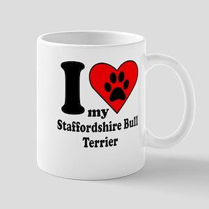 I Heart My Staffordshire Bull Terrier Mug