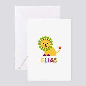 Elias Loves Lions Greeting Card