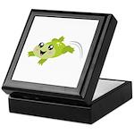 Cute green frog Keepsake Box