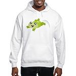 Cute green frog Jumper Hoody