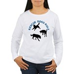 Rescue Dogs Rule Women's Long Sleeve T-Shirt