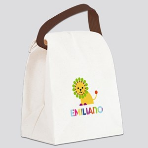 Emiliano Loves Lions Canvas Lunch Bag
