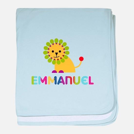 Emmanuel Loves Lions baby blanket