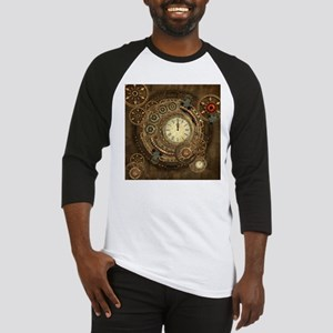 Steampunk, clockwork with gears Baseball Jersey
