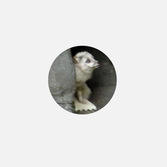 arctic fox Mini Button