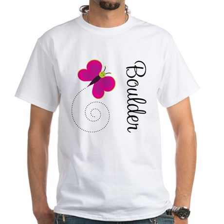 Cute Boulder Colorado White T-Shirt