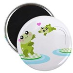 Cute mother and child frogs Magnet