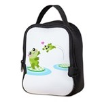 Cute mother and child frogs Neoprene Lunch Bag