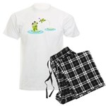 Cute mother and child frogs pajamas