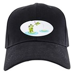 Cute mother and child frogs Baseball Cap