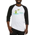 Cute mother and child frogs Baseball Jersey