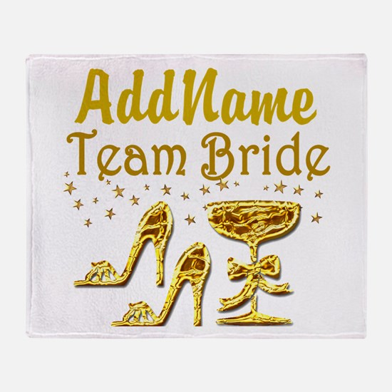 TEAM BRIDE Throw Blanket