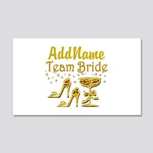 TEAM BRIDE 20x12 Wall Decal