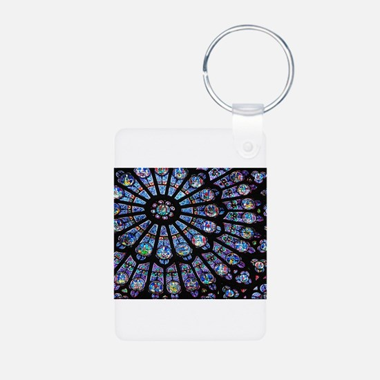 Stained glass window Notre Dame Keychains