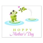 Hoppy Mothers day frogs Poster Design