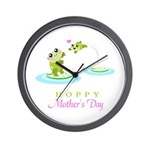Hoppy Mothers day frogs Wall Clock