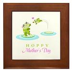 Hoppy Mothers day frogs Framed Tile