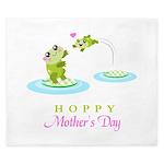 Hoppy Mothers day frogs King Duvet