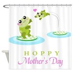Hoppy Mothers day frogs Shower Curtain