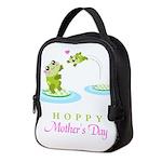 Hoppy Mothers day frogs Neoprene Lunch Bag