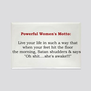 Powerful Womens Motto 2 Rectangle Magnet