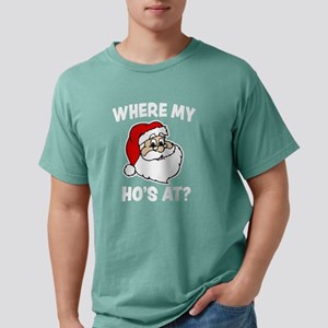 Where my Ho's at? Funny Mens Comfort Colors Shirt