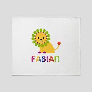 Fabian Loves Lions Throw Blanket